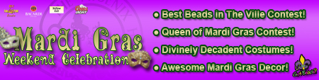 Mardi Gras Weekend Celebration Banner
